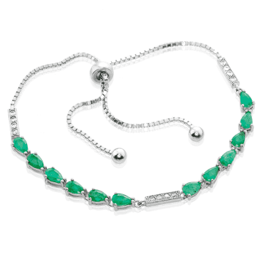 2ct Emerald Bracelet with a Clever Comfort-Fit