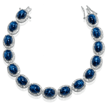 Find Mystery & Magic in our 37.5cts Star Sapphire Bracelet