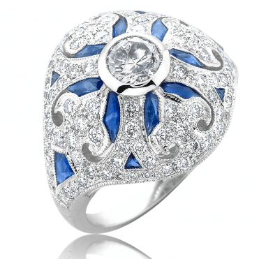 Over 2cts of Sapphire & Diamonds set in 18ct White Gold