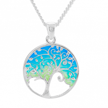 Tree of Life Pendant with Lush Green Enamelling