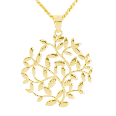 9ct Gold Pendant of Meandering Intricacy