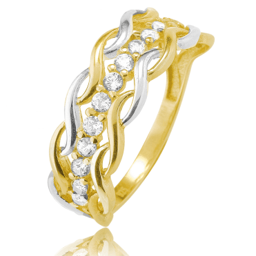 Crom Honeymoon Ring in 9ct Yellow Gold