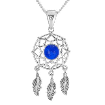 Lapis Lazuli Dream Catcher Pendant