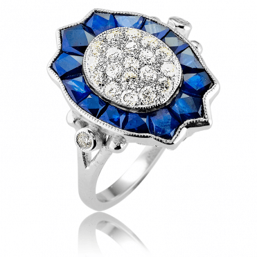 Nearly 2½cts of Stunning Ceylon Sapphire & Diamonds