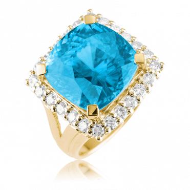 Nearly 17½cts of Starlight Matara Set Above 28 Diamonds