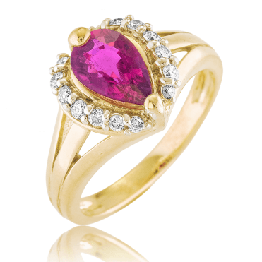 Powerful & Positive 1ct Pink Tourmaline Ring