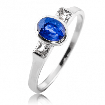 Iced Sapphire Ring, Pure Jasper May Magic for Only £49.50
