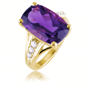 Supreme 7½ct Amethyst Elevated by Diamonds
