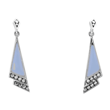 Art Deco Blue Opal Earrings Only £35