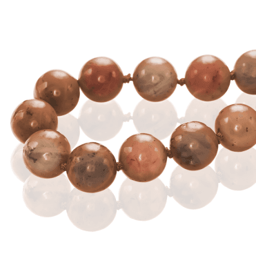 500ct Globe Beads of Cinnamon Jade