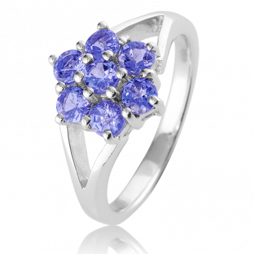 3/4ct Tanzanite Flower Ring Only £45
