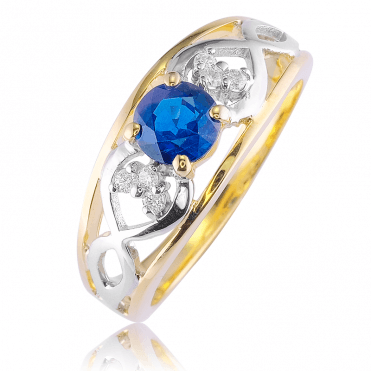 Celtic Destiny ? A 0.85ct Sapphire Ring in 9ct Tonal Gold