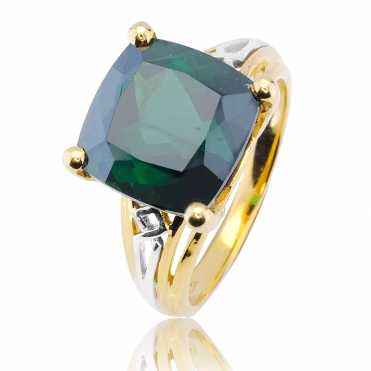 Europa Ring with a 9ct Cushion of Tourmaline
