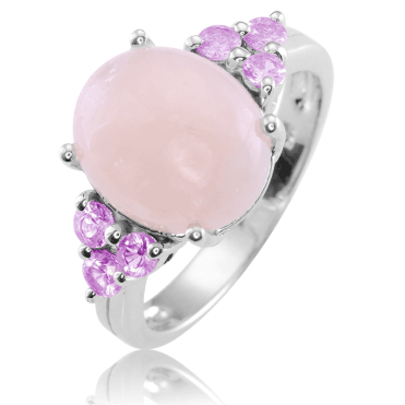 2¾cts of Morganite with Pink Sapphires for Only £67.50