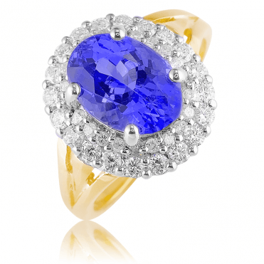 2½cts of Radiant Tanzanite Haloed by Diamonds