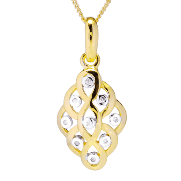 Celtic Dream Pendant Weaving with 18ct Gold & Diamonds