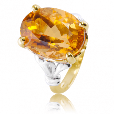 Tonal Gold Celebration Setting for 14cts of Sunlit Citrine