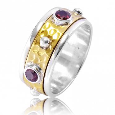 Garnet Spinner Ring