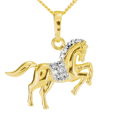 Prancing Horse Pendant Nuanced with Gold