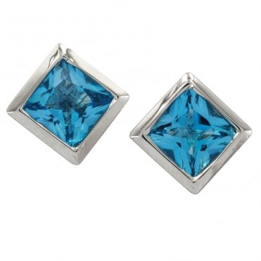 Ladies Shipton and Co Exclusive Silver and Blue Topaz  EQA018BT