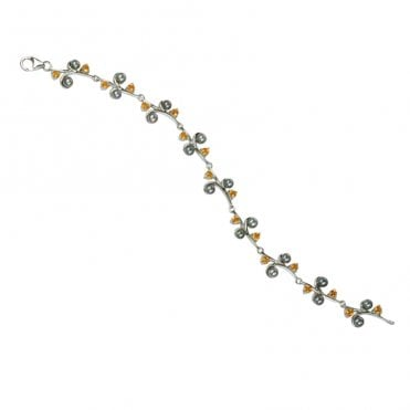 Ladies Shipton and Co Exclusive Silver and Citrine Bracelet AQA159CIP2