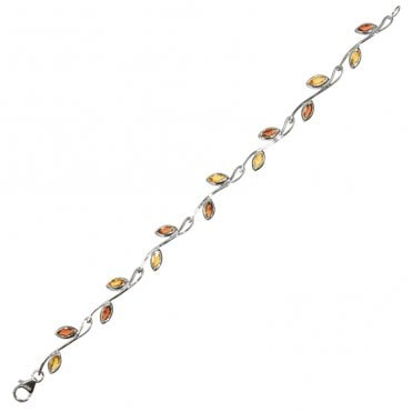 Ladies Shipton and Co Exclusive Silver and Multiple Stone Bracelet AQA162MU2