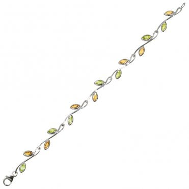 Ladies Shipton and Co Exclusive Silver and Multiple Stone Peridot Bracelet AQA162MU4