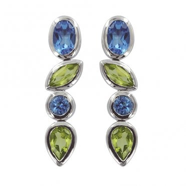 Ladies Shipton and Co Exclusive Silver and Multiple Stone Peridot EQA287MU3