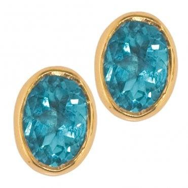 Earring 9ct 1172 Blue Topaz