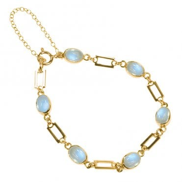 Ladies Shipton and Co Exclusive 9ct Yellow Gold and Moonstone Bracelet AY1171MS