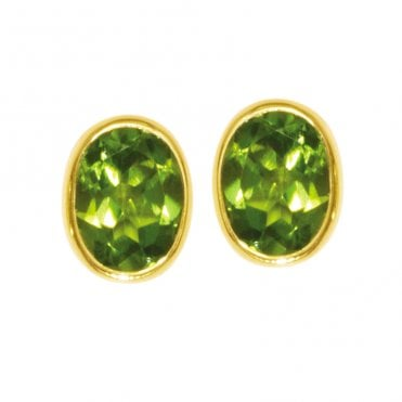 Ladies Shipton and Co 9ct Yellow Gold and Peridot Earrings EY1172PE