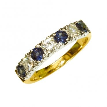 Ladies Shipton and Co Exclusive 18ct Yellow Gold and Blue Sapphire Eternity Ring RZ1390BS
