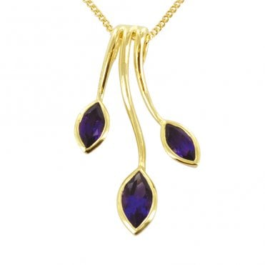 Ladies Shipton and Co Exclusive 9ct Yellow Gold and Amethyst Pendant including a 16 9ct Chain PYG012AM