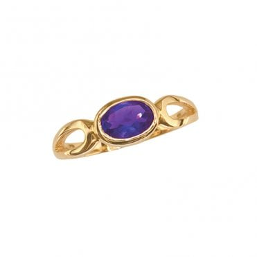 Ladies Shipton and Co Exclusive 9ct Yellow Gold and Amethyst Ring RY1190AM