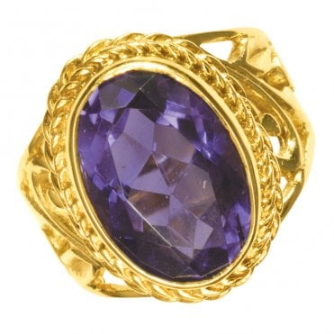 Ladies Shipton and Co Exclusive 9ct Yellow Gold and Amethyst Ring RY1193AM