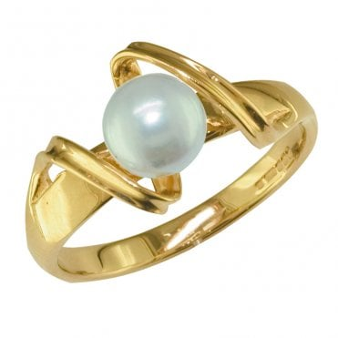 Ladies Shipton and Co Exclusive 9ct Yellow Gold and Cultured Pearls Ring RY1621CP