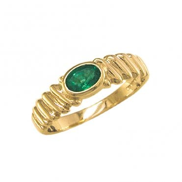Ladies Shipton and Co Exclusive 9ct Yellow Gold and Emerald Ring RY1598EM