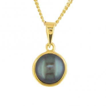 Ladies Shipton and Co 9ct Yellow Gold and Freshwater Pearls Pendant including a 16 9ct Chain PY1934FP2