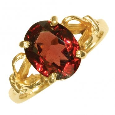 Ladies Shipton and Co Exclusive 9ct Yellow Gold and Garnet Ring RY1178GR