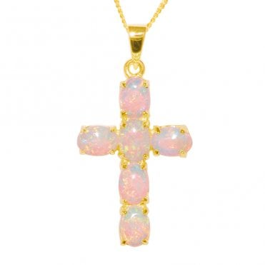 Ladies Shipton and Co Exclusive 9ct Yellow Gold and Opal Pendant including a 16 9ct Chain PY1460OP