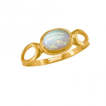 Ladies Shipton and Co Exclusive 9ct Yellow Gold and Opal Ring RY1190OP