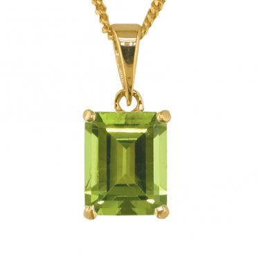 Ladies Shipton and Co Exclusive 9ct Yellow Gold and Peridot Pendant including a 16 9ct Chain PY1592PE