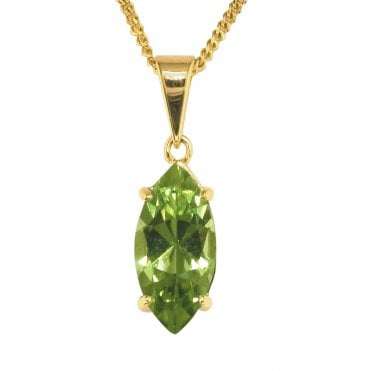 Ladies Shipton and Co 9ct Yellow Gold and Peridot Pendant including a 16 9ct Chain PY1979PE