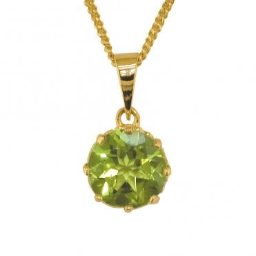 Ladies Shipton and Co Exclusive 9ct Yellow Gold and Peridot Pendant including a 16 9ct Chain PY2165PE