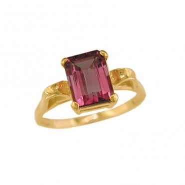 Ladies Shipton and Co Exclusive 9ct Yellow Gold and Red Tourmaline Ring RY1752RT