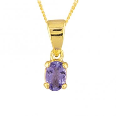 Ladies Shipton and Co 9ct Yellow Gold and Tanzanite Pendant including a 16 9ct Chain PY2064TZ