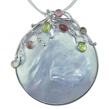 Ladies Shipton and Co Exclusive Silver and Multiple Stone Pendant including a 16 Silver Chain TTL030MU