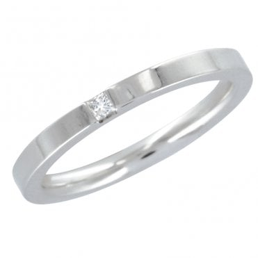 Ladies Shipton and Co 18ct White Gold and 3pt Diamond Wedding Ring TST036DI