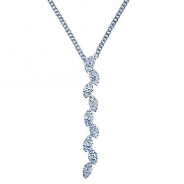 Ladies Shipton and Co Exclusive 18ct White Gold 0.21ct Diamond Pendant including a 16 18ct White Gold Chain on a slider TMS005DI