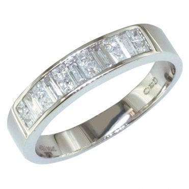 Princess & Baguette Cut Half Carat Diamond Ring